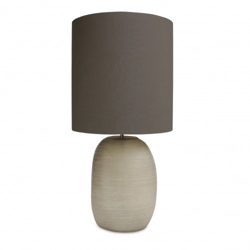 PATARA  FROSTED GRAY GLASS TALL TABLE LAMP - GRAY SHADE