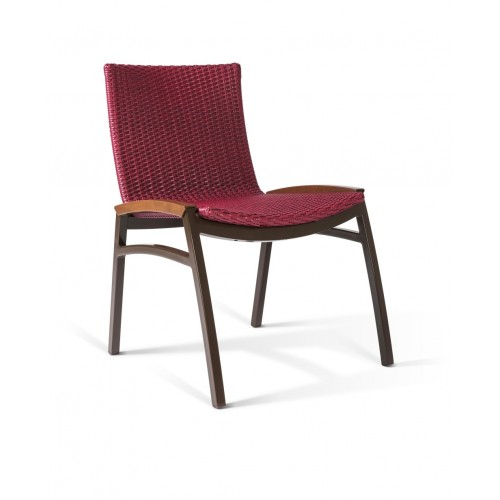NORONHA STACKABLE ALUMINUM SIDE DINING CHAIR