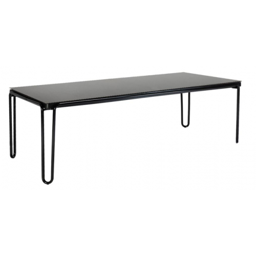 "SOUL 94.5"" RECTANGULAR DINING TABLE WITH COLOR GLASS TOP"