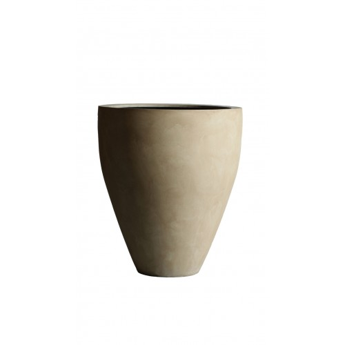 "MODENA 22"" WASHED BEIGE PLANTER"