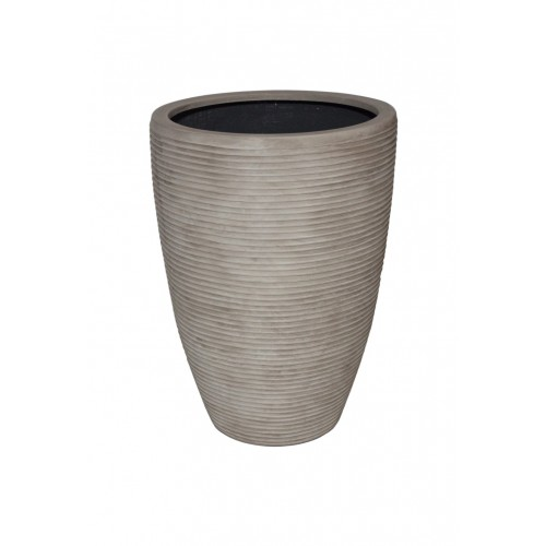 "PARMA 21.5"" WASHED BEIGE PLANTER"