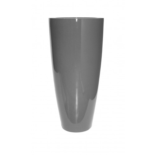 "TURIN 40"" GLOSSY CHARCOAL PLANTER"