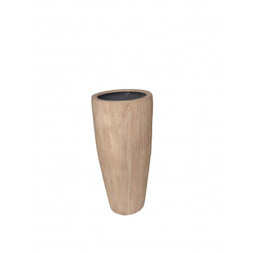 "RIALTO 32"" WASHED BEIGE PLANTER"