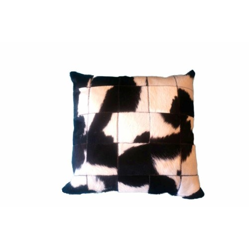 BLACK AND WHITE COWHIDE PILLOW