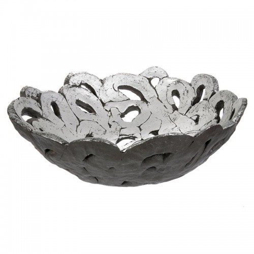 LACE - Polyresin Silver Bowl