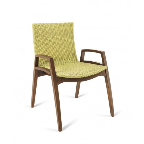 NORONHA STACKABLE ARM DINING CHAIR