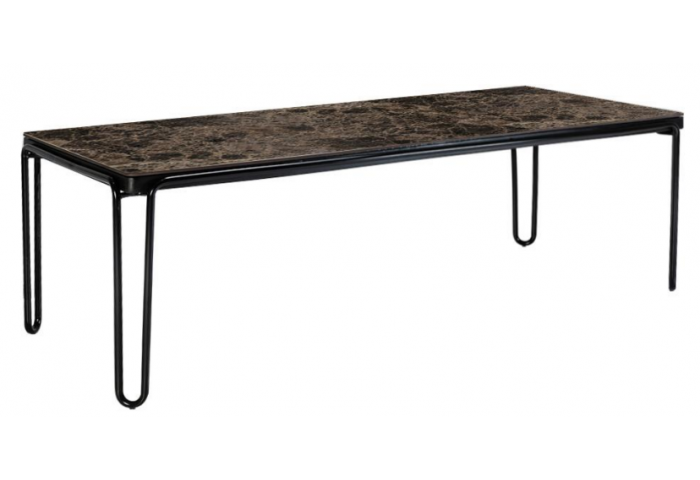 SOUL 94.5 RECTANGULAR DINING TABLE WITH A MARBLE TOP