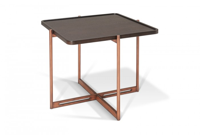 SOIE - Square End Table w/Slimstone Top