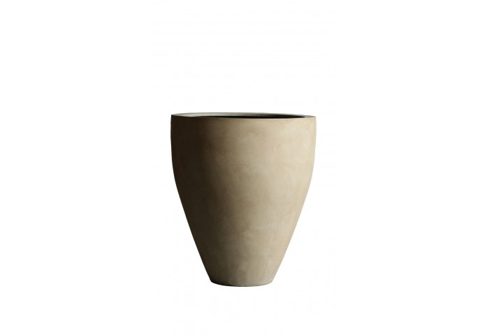 "MODENA 27.5"" WASHED BEIGE PLANTER"