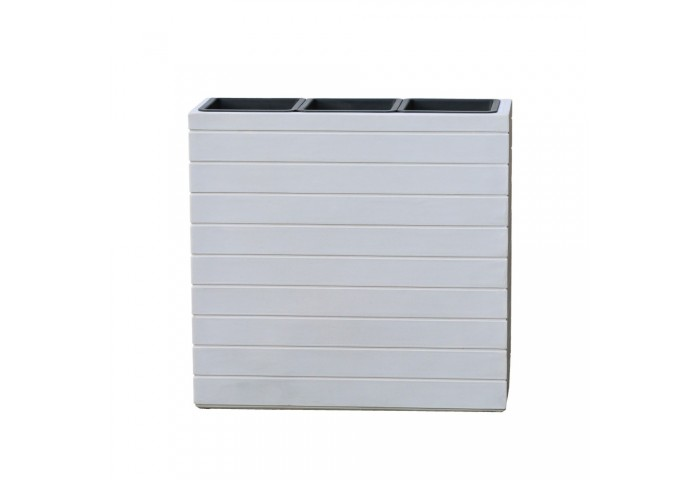 TREVI WHITE TALL RECTANGULAR PLANTER