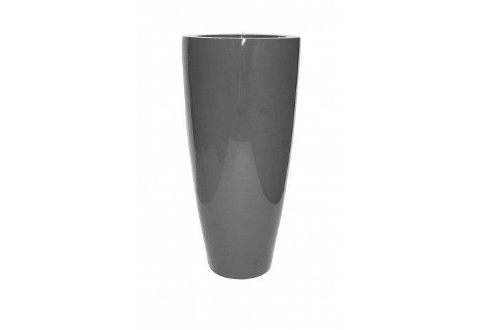 "TURIN 32"" GLOSSY CHARCOAL PLANTER"
