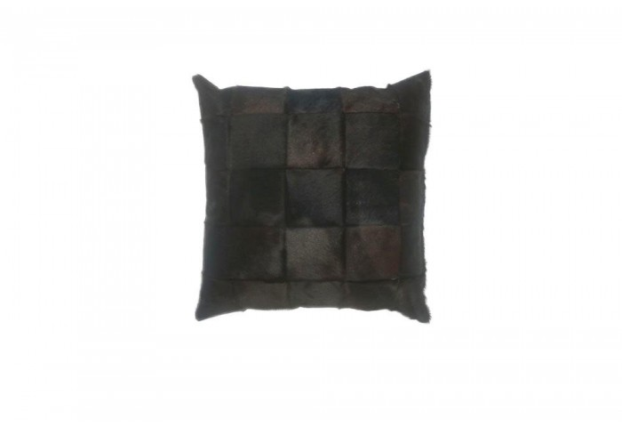 DARK BROWN COWHIDE PILLOW