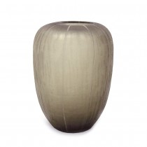 GOBI TALL FROSTED GRAY GLASS VASE