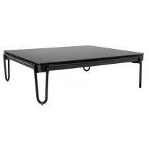 SOUL SQUARE COFFEE TABLE WITH A COLOR GLASS TOP