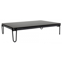 SOUL RECTANGULAR COFFEE TABLE WITH A COLOR GLASS TOP