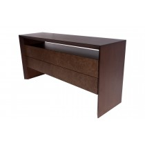 DESK-DRESSER WITH LEATHER FRONT DRAWERS