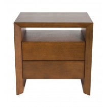 DESK-SMALL NIGHTSTAND WITH WOOD FRONT