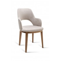META ROUNDED LEGS DINING CHAIR