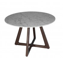 DOLOMITA ROUND END TABLE - MARBLE TOP