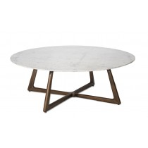 DOLOMITA ROUND COFFEE TABLE - MARBLE TOP