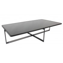 SOIE - Rectangular Coffee Table - Glass and Mirror Top