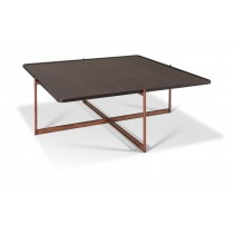 SOIE - Square Coffee Table - Glass and Mirror Top