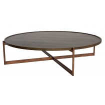 SOIE - Round Coffee Table w/Slimstone Top