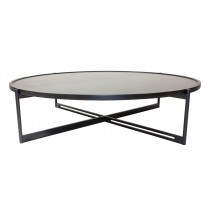 SOIE - Round Coffee Table - Glass and Mirror Top
