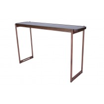 SOIE - Sofa Table - Color Glass and Mirror Top