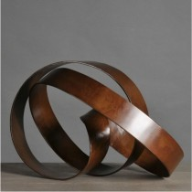 RIBBON - Brown Iron Sculpture