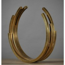 MODERNE - Golden Arc Sculpture
