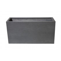 "TIVOLI 32"" DARK GRAY RECTANGULAR PLANTER"