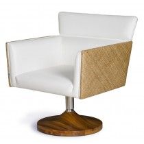 MAIORCA NATURAL FIBER WEAVE SWIVEL ARMCHAIR