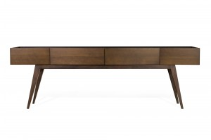 DIAMANTE WOOD TOP CONSOLE WITH DRAWERS