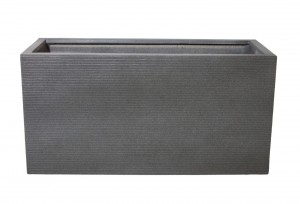 "TIVOLI 40"" DARK GRAY RECTANGULAR PLANTER"
