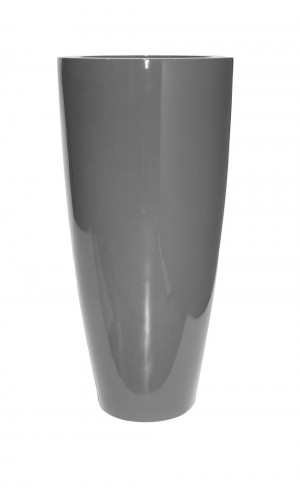 """TURIN 40"""" GLOSSY CHARCOAL PLANTER"""