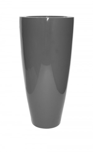 """TURIN 32"""" GLOSSY CHARCOAL PLANTER"""