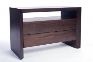 DESK - LARGE NIGHTSTAND WITH WOOD FRONT